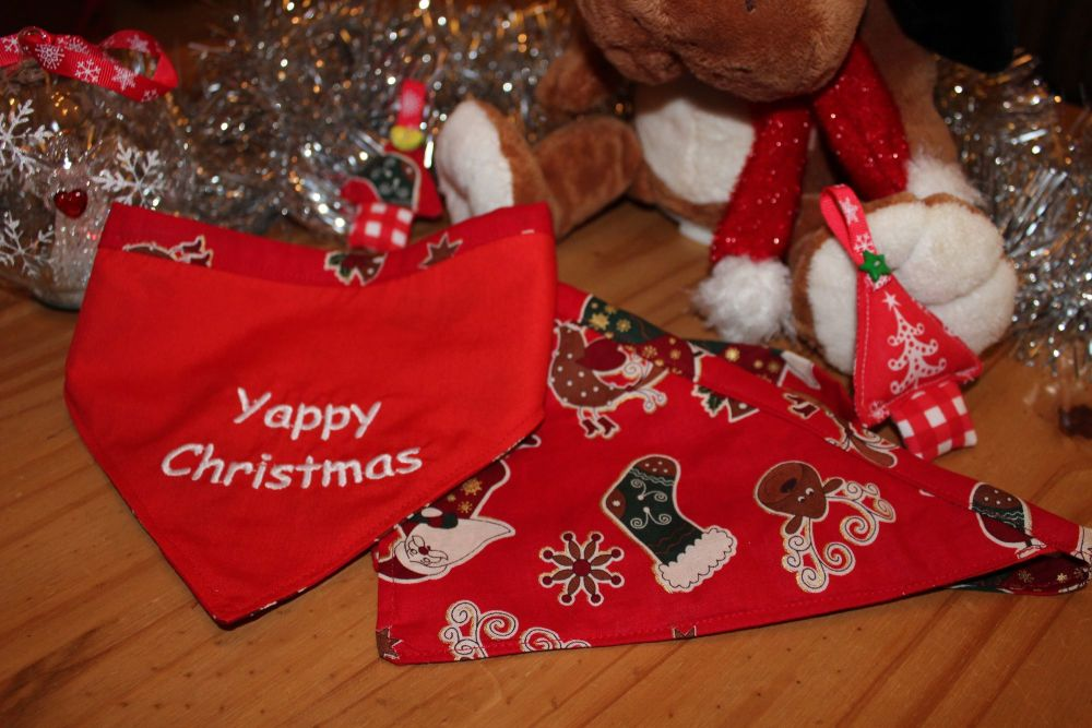 'Yappy Christmas' reversible Bandana