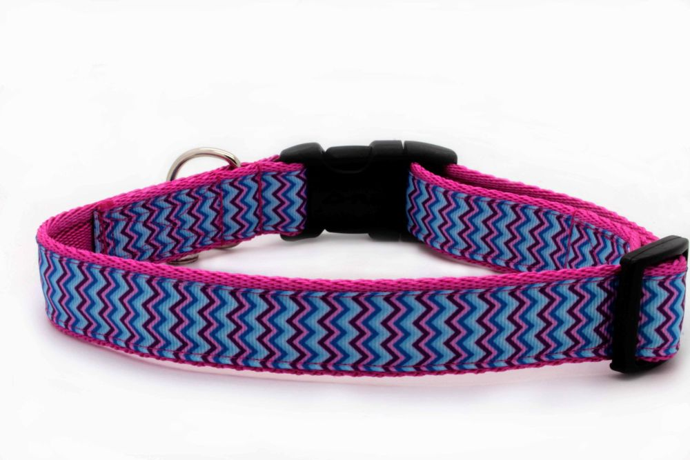 Blue Chevron Collar