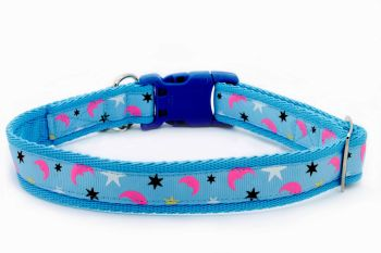 Blue 'Moon & Stars' Collar