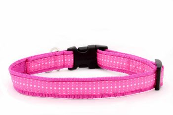 Pink Swiss dot Collar