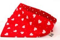 Red/white hearts Bandana