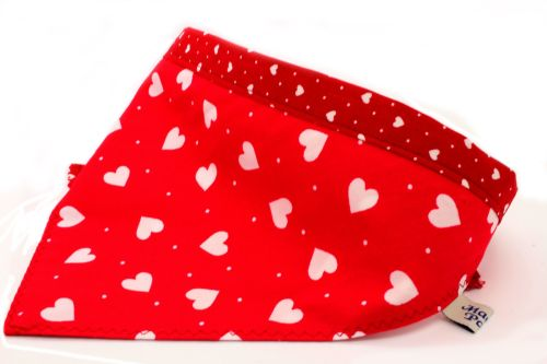 Red/white hearts Bandana