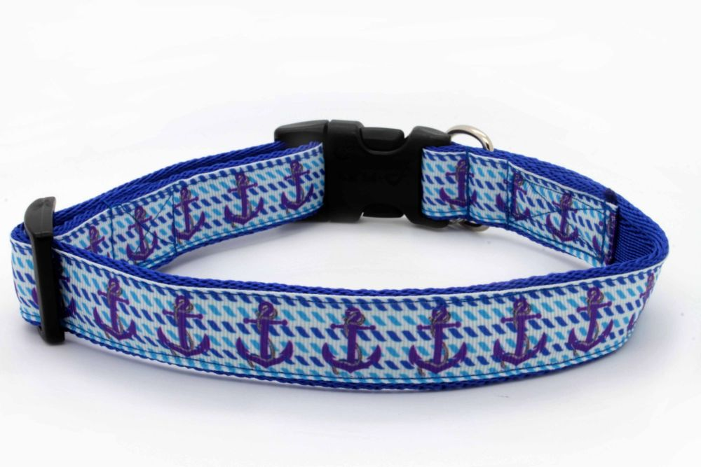 Blue Anchors Collar