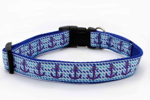 Blue Anchors Collar