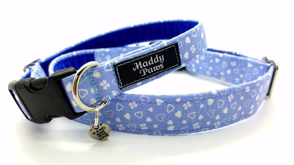Little blue hearts Collar