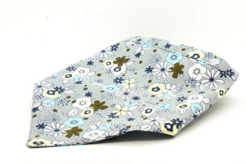 Grey Floral Bandana