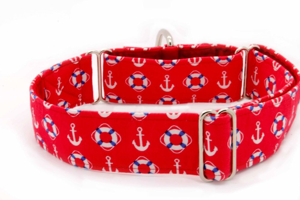 Red Nautical Hound Collar