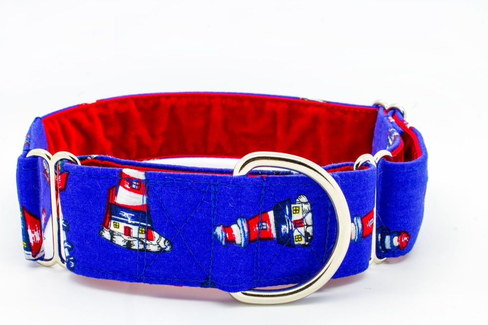 Blue Lighthouse Hound Collar