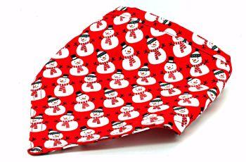 Red Snowman Bandana