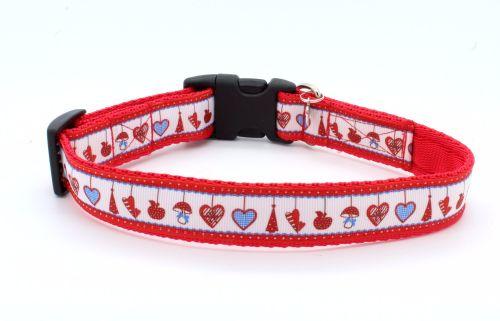 Red/white Xmas Collar