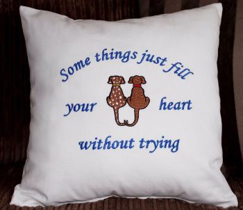 Some things just fill your heart without trying. Fun Cushion