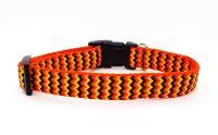Orange Chevron Collar