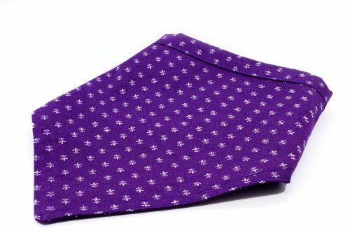 Purple Fleur-de-lis Bandana