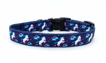 Navy Unicorn Collar