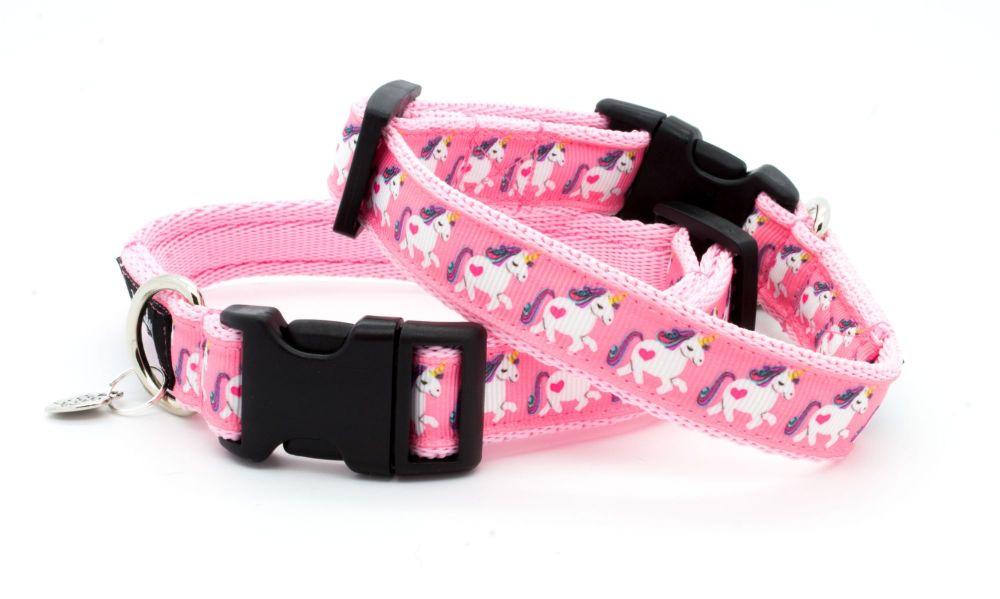 Pretty Pink Unicorn Collar