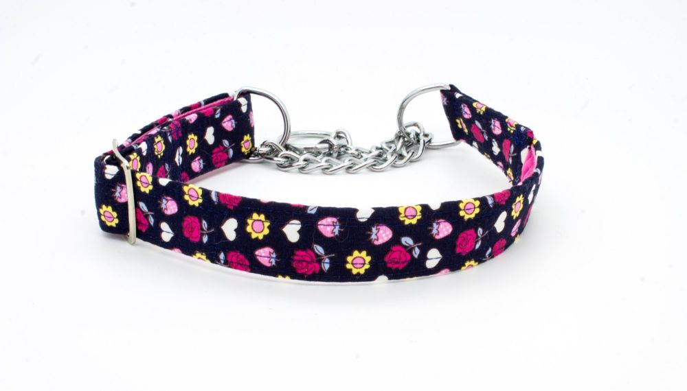 Navy/Pink Floral Collar