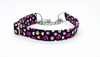 *NEW*  Navy/Pink Floral Collar