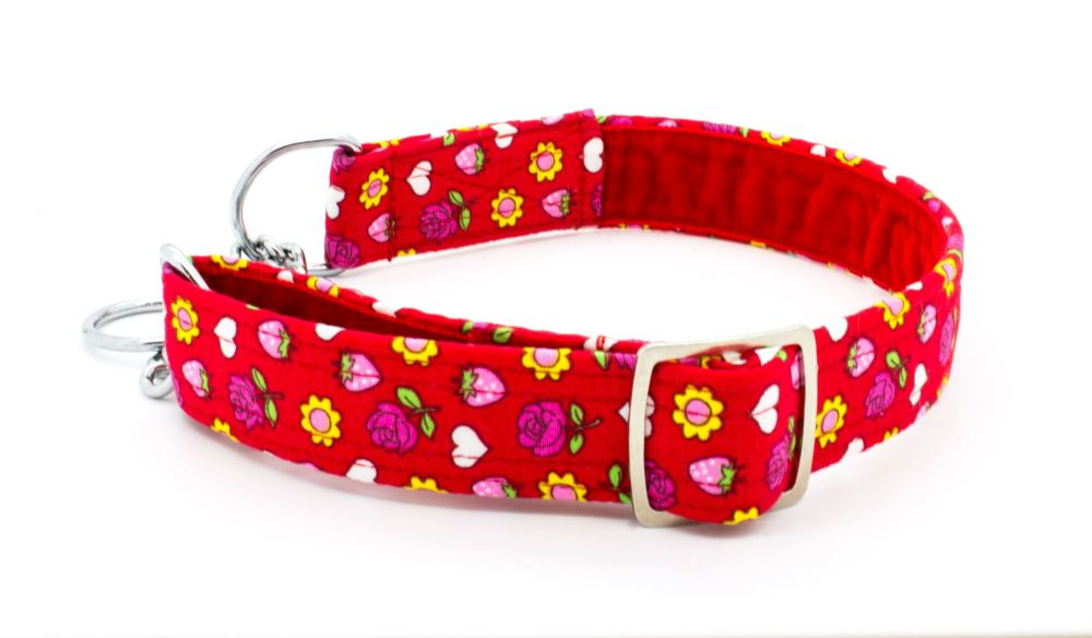 Red Floral Collar