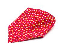 Reversable Red Floral/hearts Bandana