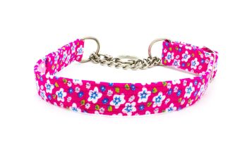 Pink Floral Cord Collar