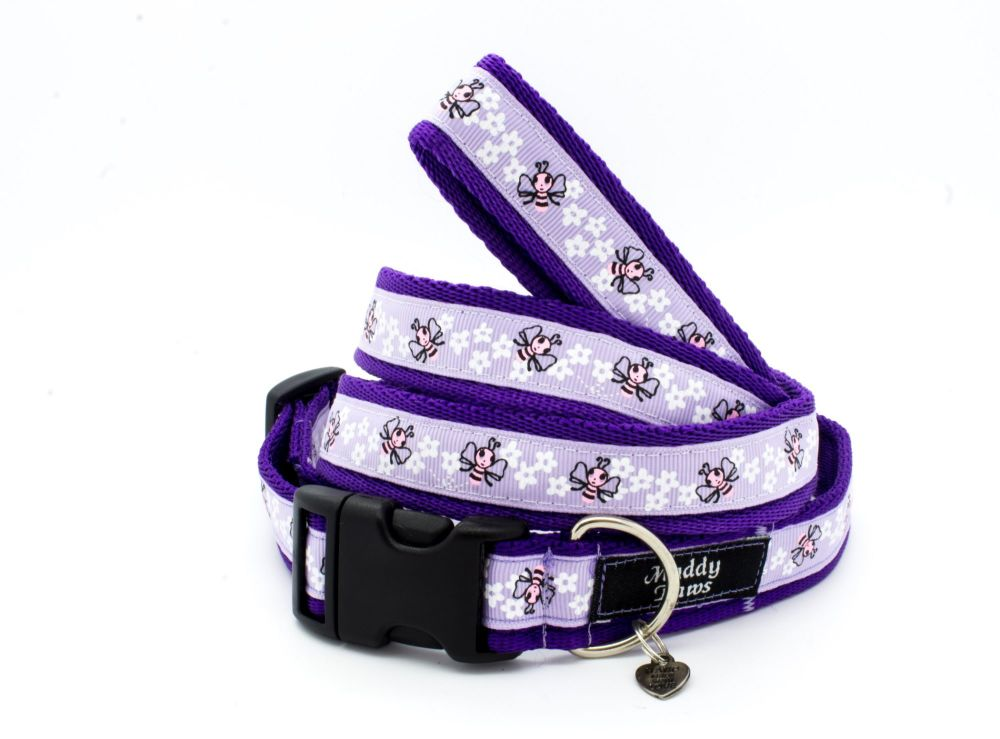 Lilac Bees Collar