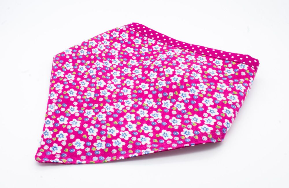 Pink Floral Bandana