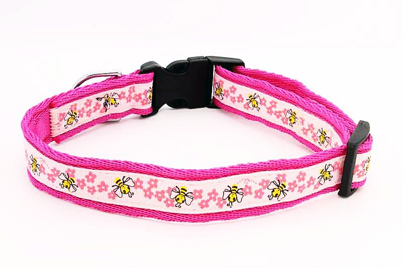 Pink Bees Collar