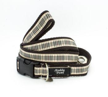 Brown Tartan Collar & Lead