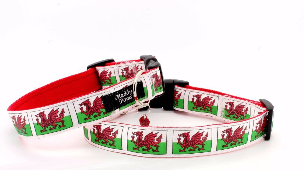 Red Welsh Dragon Collar