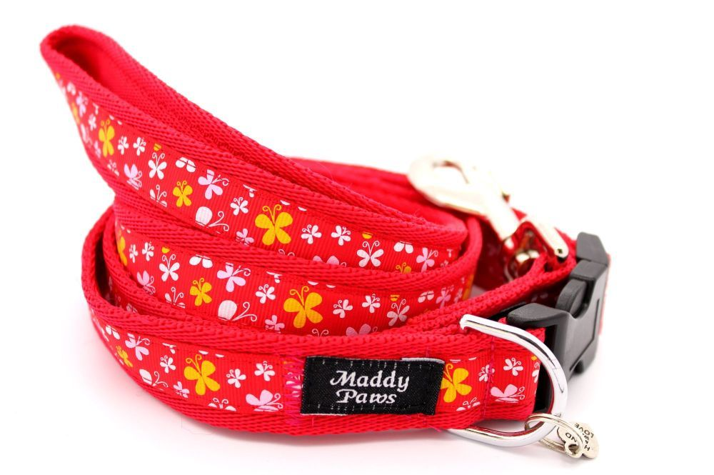 Red Butterflies Collar
