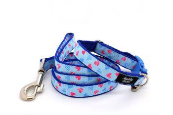 Blue & Pink Hearts Collar
