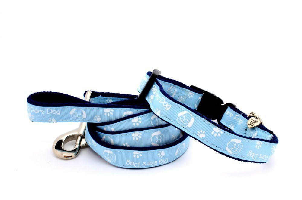 Pale Blue 'Big Ears Dog' Collar