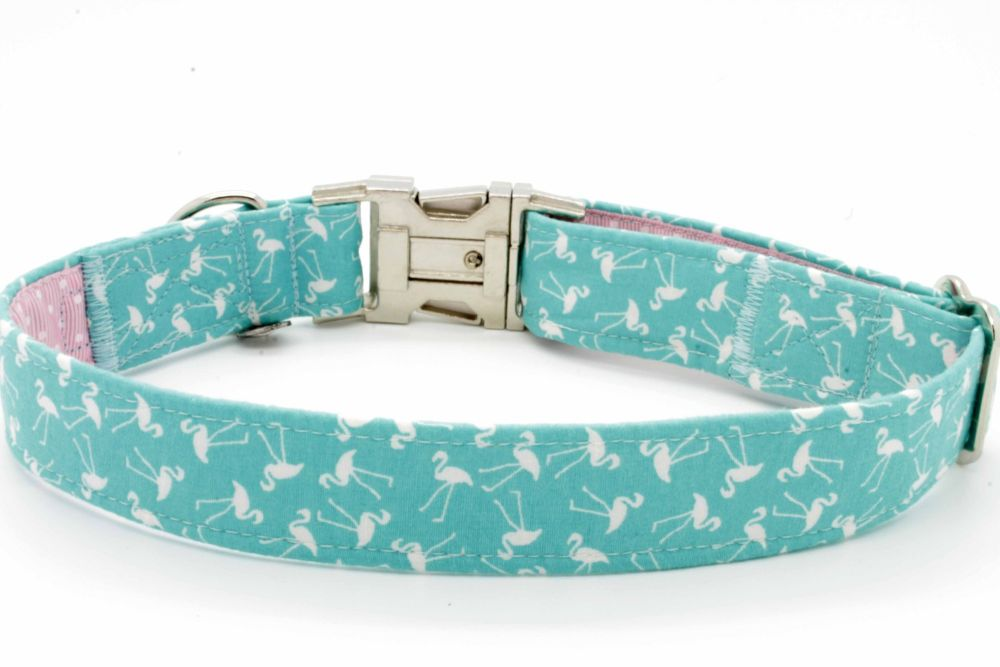 Turquoise Flamingoes Collar