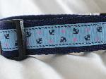 Pale blue anchors Collar