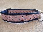 Navy/Pink anchors collar