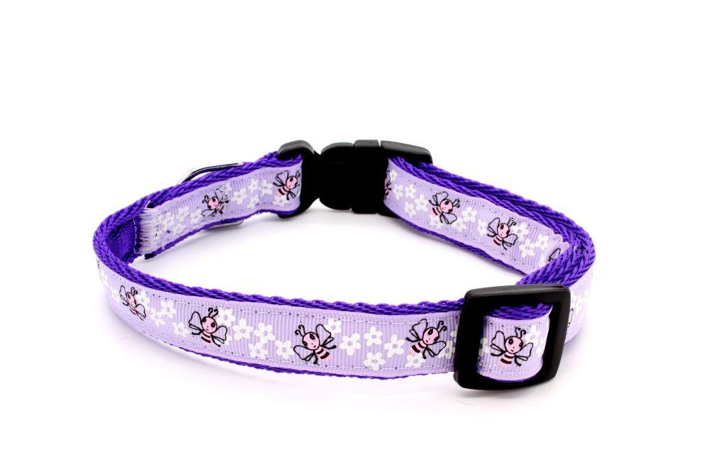 Lilac Bees Collar
