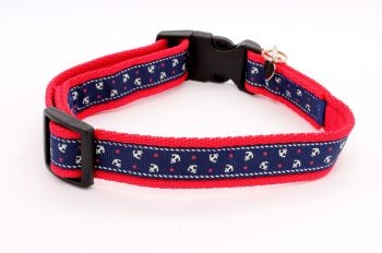 Red/navy Anchors Collar