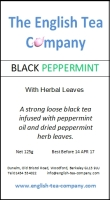 Black Peppermint with Herbal Leaves