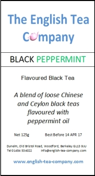 Loose Black Peppermint Tea