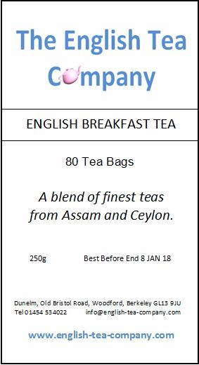 English Breakfast Tea, 80 Tea Bags