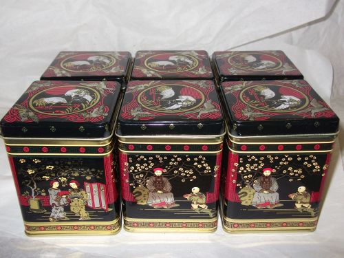 Set of 6 Tea Caddies (125g)