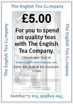 The English Tea Company Gift Voucher