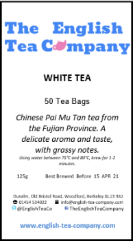 White Tea (Pai Mu Tan) Tea Bags