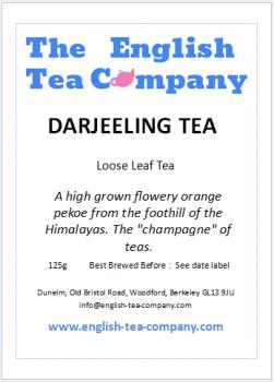 Loose Darjeeling Tea TGFOP