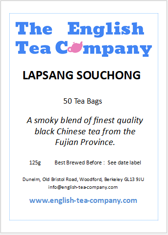 Lapsang Souchong Tea Bags 50 Tea Bags