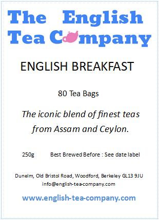 English Breakfast Tea, 80 Tea Bags