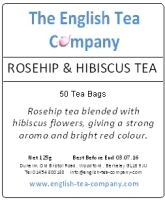 Rosehip and Hibiscus Tea Bags 50 Tea Bags