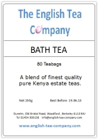 Bath Tea - 80 (2 cup) Tea Bags