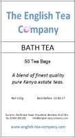 Bath Tea - 50 (1 cup) Tea Bags