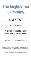 Bath Tea -100 (1 cup) Tea Bags